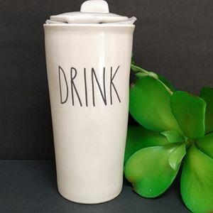 Rae Dunn Artisan Drink Tall Travel Coffee mug cup